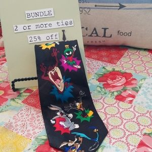 Vintage looney Tunes Collector tie 1993 polyester